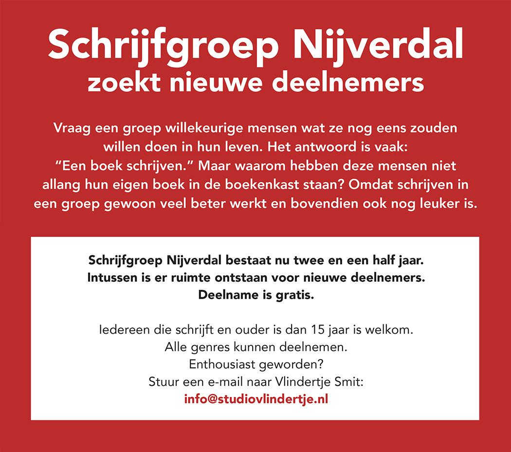 schrijfgroep Nijverdal zoekt nieuwe leden